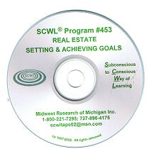 Setting and Achieving Real-estate Goals CD Number 453