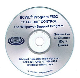 Total Diet Control / The Will Power Support Program CD Number 502