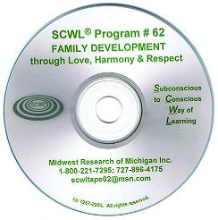 Family Development Through Love, Harmony and Respect CD Number 62