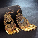 Top Selling  Fashion Hot Gold-color Metal Tassel Dangle Earrings Oversize  Long Earrings For Women Ethnic Indian Jewelry - Discount Jewelry Store