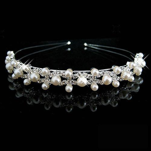 Hot Sell Wedding Bridal Bridesmaid Tiara Crown Headband Heart Girls Love Crystal Rhinestone Jewelry hair Accessories Bride Head Ornament - Discount Jewelry Store