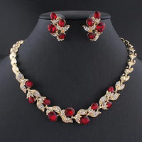 Best Selling African wedding beads Wedding dress jewelry set for charm of women red black white necklace earrings set of chain party gift - Discount Jewelry Store