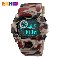 Top Selling Men Sports Watches Chronograph Military Digital Wristwatches Camouflage Shock Resistant - Discount Jewelry Store