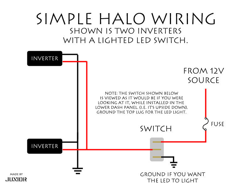 simplehalowiring?v=1508178960 oracle halo installation tips nfc performance halo headlight wiring diagram at edmiracle.co