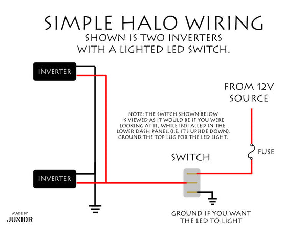 Halo Headlight Installation Instructions Guide on halo lighting, halo control diagram, halo lights diagram, halo dimensions diagram,