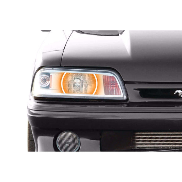 1987-1993 Ford Mustang Profile Prism (formerly ColorMorph) Halo Headlight Kits by LED Concepts™