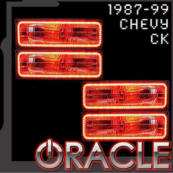 1987-1999 Chevrolet CK ColorSHIFT LED Headlight Dual Halo Kit by Oracle™
