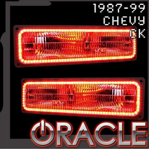 1987-1999 Chevrolet CK ColorSHIFT LED Headlight Halo Kit by Oracle™