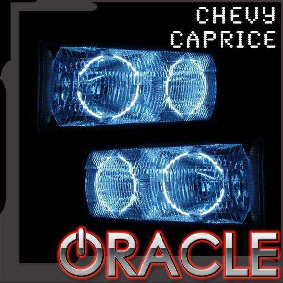 1991-1996 Chevrolet Caprice ColorSHIFT LED Headlight Halo Kit by Oracle™
