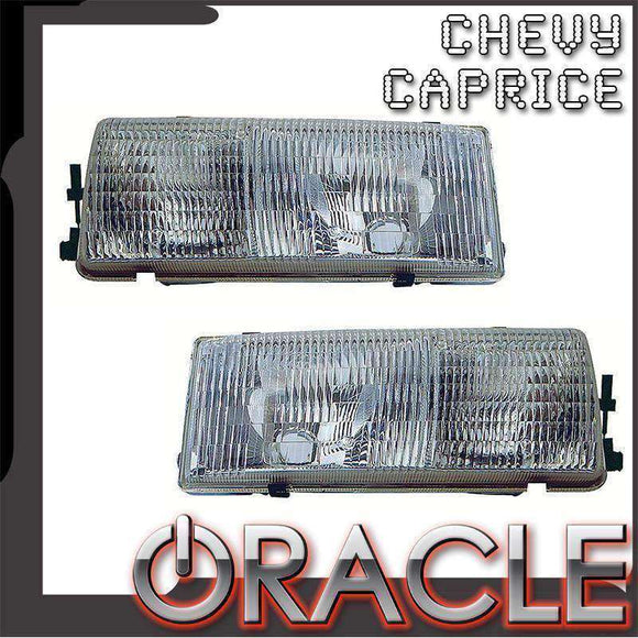 1978-1996 Chevrolet Caprice ColorSHIFT LED Pre-Assembled Oracle™ Halo Headlights