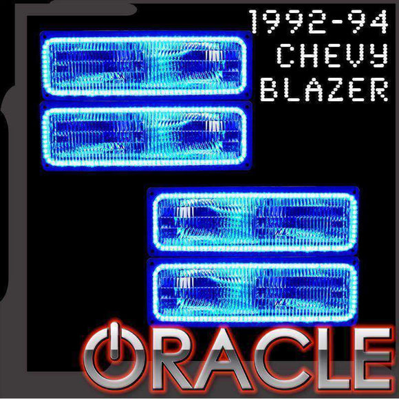 1992-1994 Chevrolet Blazer ColorSHIFT LED Headlight Dual Halo Kit by Oracle™