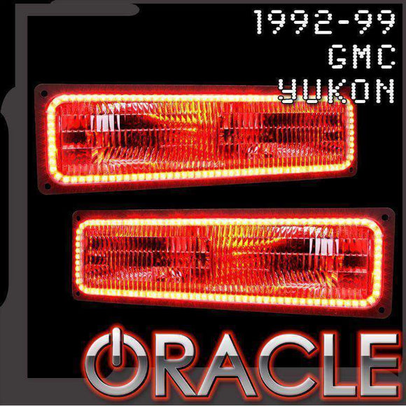 1992-1999 GMC Yukon ColorSHIFT LED Headlight Halo Kit by Oracle™