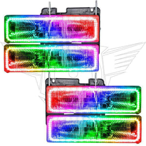 1992-1994 Chevrolet Blazer ColorSHIFT LED Pre-Assembled Oracle™ Halo Headlights