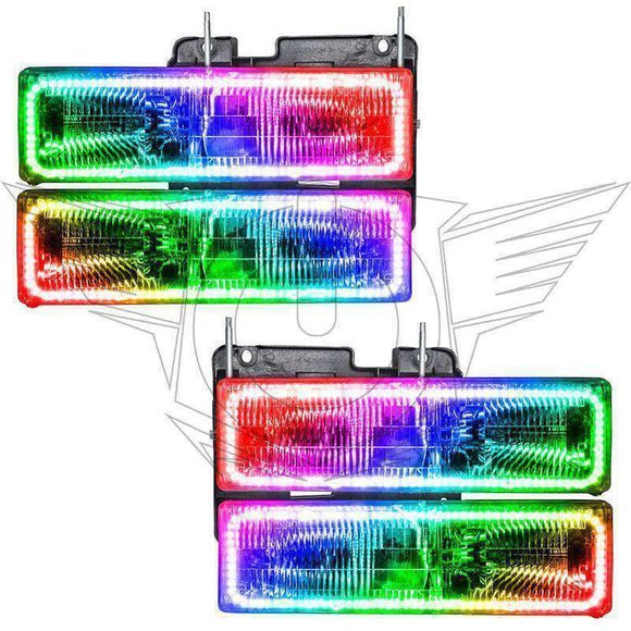 1992-1999 GMC Yukon ColorSHIFT LED Pre-Assembled Oracle™ Halo Headlights