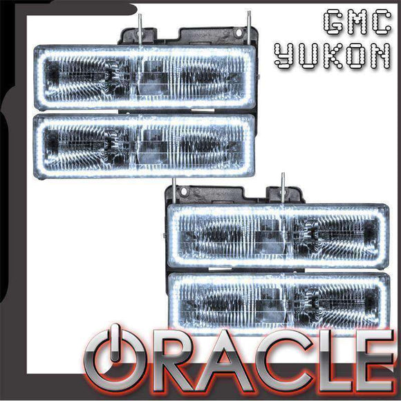 1992-1999 GMC Yukon LED Pre-Assembled Oracle™ Halo Headlights