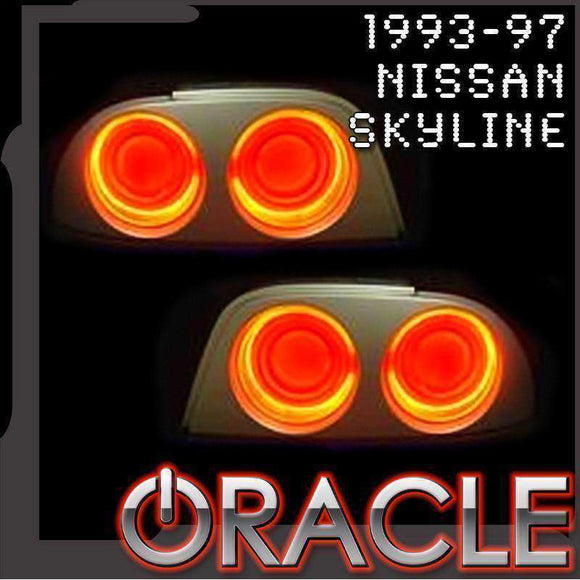 1993-1997 Nissan Skyline LED Tail Light Halo Kit by Oracle™
