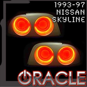 1993-1997 Nissan Skyline Plasma Tail Light Halo Kit by Oracle™
