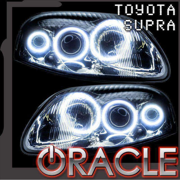 1993-1998 Toyota Supra ColorSHIFT LED Headlight Halo Kit by Oracle™