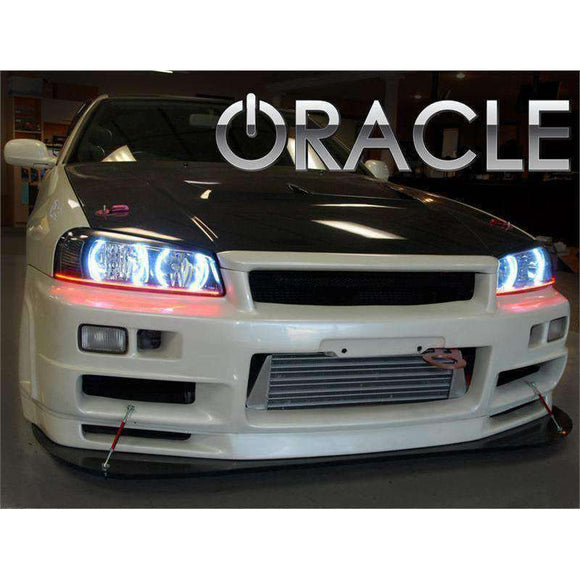 1998-2001 Nissan Skyline R34/GT-R ColorSHIFT LED Headlight Halo Kit by Oracle™