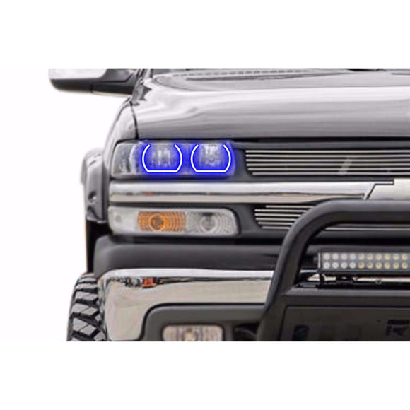 1999-2002 Chevrolet Silverado Profile Prism (formerly ColorMorph) Halo Headlight Kits by LED Concepts™
