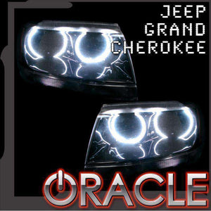 1999-2004 Jeep Grand Cherokee LED Headlight Halo Kit by Oracle™