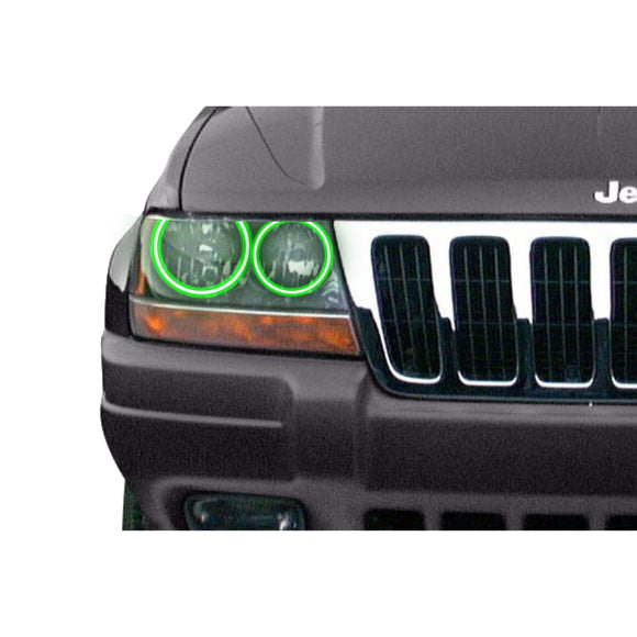 1999-2004 Jeep Grand Cherokee Profile Prism (formerly ColorMorph) Halo Headlight Kits by LED Concepts™