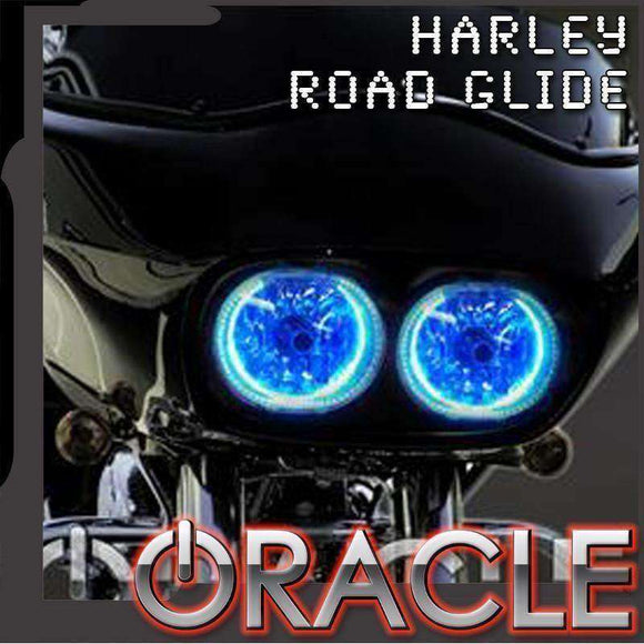 1999-2015 Harley-Davidson Road Glide LED Headlight Halo Kit by Oracle™
