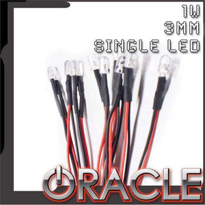 1W 3mm Single Wired LED (10 Pack) by Oracle™