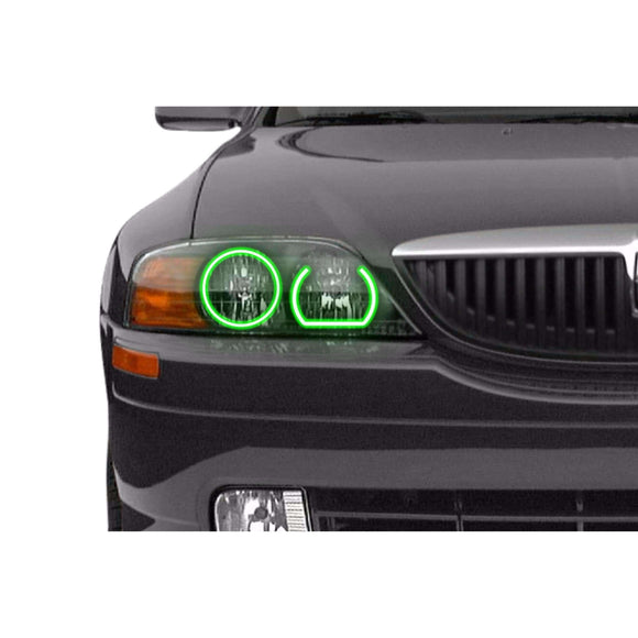 2000-2002 Lincoln LS Profile Prism (formerly ColorMorph) Halo Headlight Kits by LED Concepts™