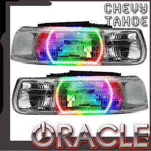2000-2006 Chevrolet Tahoe ColorSHIFT LED Pre-Assembled Oracle™ Halo Headlights