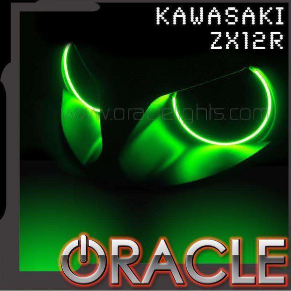 2000-2006 Kawasaki ZX-12R ColorSHIFT LED Headlight Halo Kit by Oracle™