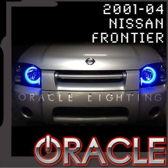 2001-2004 Nissan Frontier ColorSHIFT LED Headlight Halo Kit by Oracle™