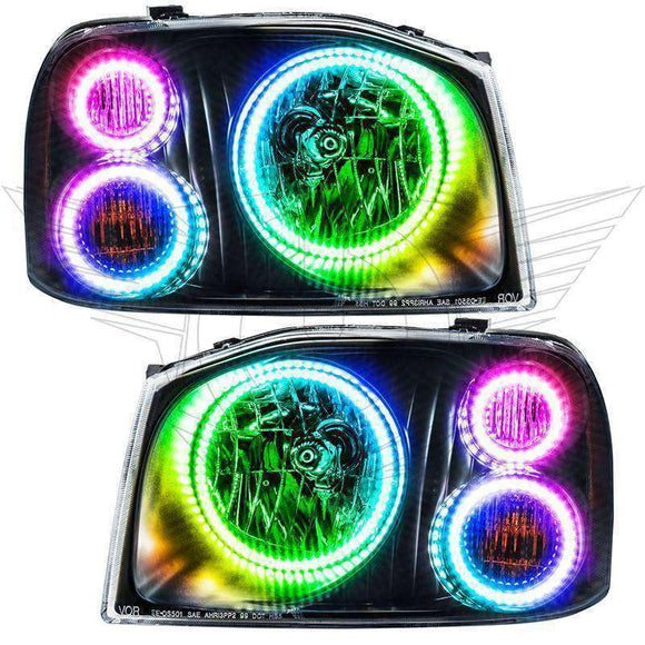 2001-2004 Nissan Frontier ColorSHIFT LED Headlight Triple Halo Kit by Oracle™