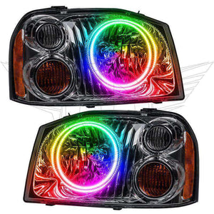 2001-2004 Nissan Frontier ColorSHIFT LED Pre-Assembled Oracle™ Halo Headlights