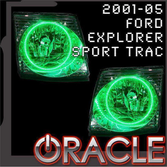2001-2005 Ford Explorer Sport Trac ColorSHIFT LED Headlight Halo Kit by Oracle™