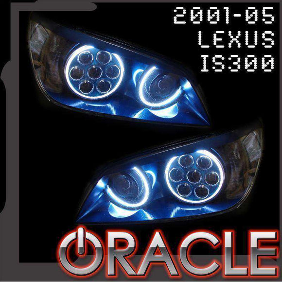 2001-2005 Lexus IS300 ColorSHIFT LED Headlight Halo Kit by Oracle™
