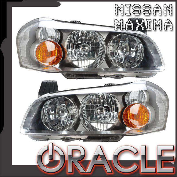 2002-2003 Nissan Maxima HID ColorSHIFT LED Pre-Assembled Oracle™ Halo Headlights