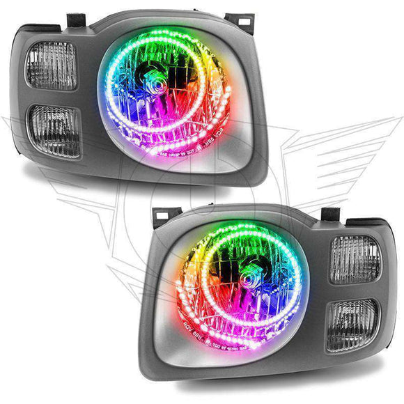2002-2004 Nissan Xterra SE ColorSHIFT LED Pre-Assembled Oracle™ Halo Headlights