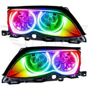 2002-2005 BMW 3 Series ColorSHIFT LED Pre-Assembled Oracle™ Halo Headlights