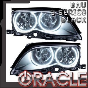 2002-2005 BMW 3 Series LED Pre-Assembled Halo Headlights (Non-Projector Only) by Oracle™