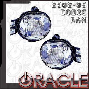 2002-2005 Dodge Ram ColorSHIFT LED Pre-Assembled Halo Fog Lights by Oracle™