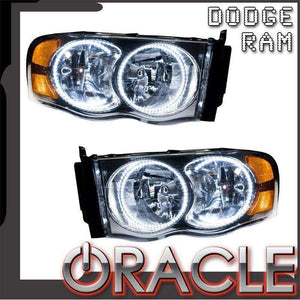 2002-2005 Dodge Ram LED Pre-Assembled Oracle™ Halo Headlights