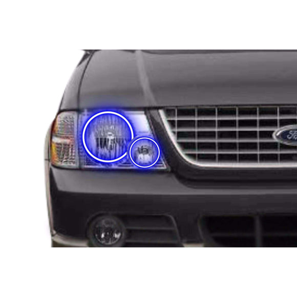 2002-2005 Ford Explorer Profile Prism (formerly ColorMorph) Halo Headlight Kits by LED Concepts™