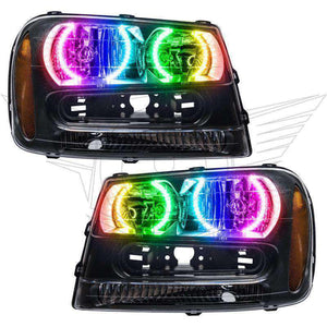 2002-2009 Chevrolet TrailBlazer ColorSHIFT LED Pre-Assembled Oracle™ Halo Headlights
