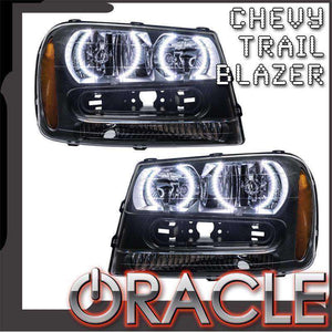 2002-2009 Chevrolet TrailBlazer LED Pre-Assembled Oracle™ Halo Headlights