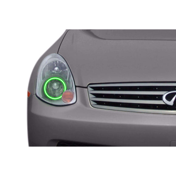 2003-2004 Infiniti G35 Sedan Profile Prism (formerly ColorMorph) Halo Headlight Kits by LED Concepts™