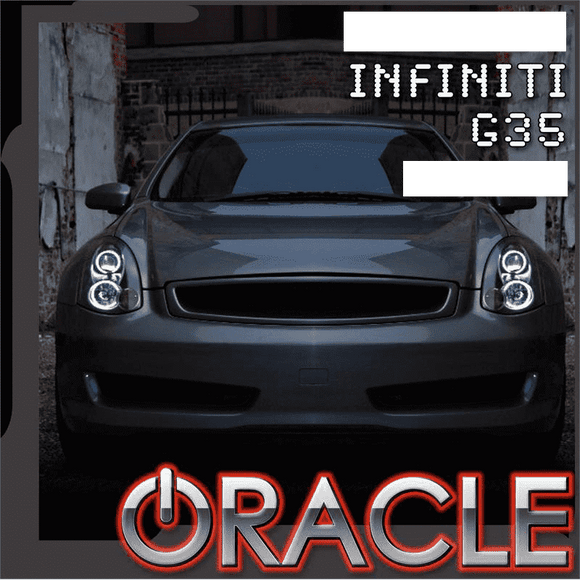 2003-2005 Infiniti G35 Coupe ColorSHIFT LED Headlight Halo Kit by Oracle™