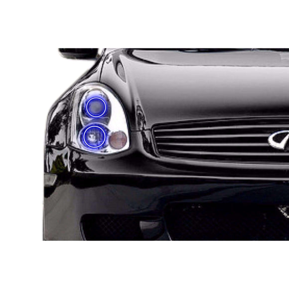 2003-2005 Infiniti G35 Coupe Profile Prism (formerly ColorMorph) Halo Headlight Kits by LED Concepts™