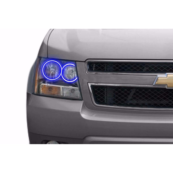 2003-2006 Chevrolet Avalanche (Non-Cladded Style) Profile Prism (formerly ColorMorph) Halo Headlight Kits by LED Concepts™