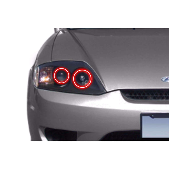 2003-2006 Hyundai Tiburon Profile Prism (formerly ColorMorph) Halo Headlight Kits by LED Concepts™